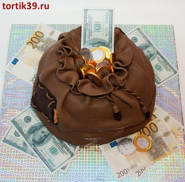 Торт мешок с деньгами пошагово с