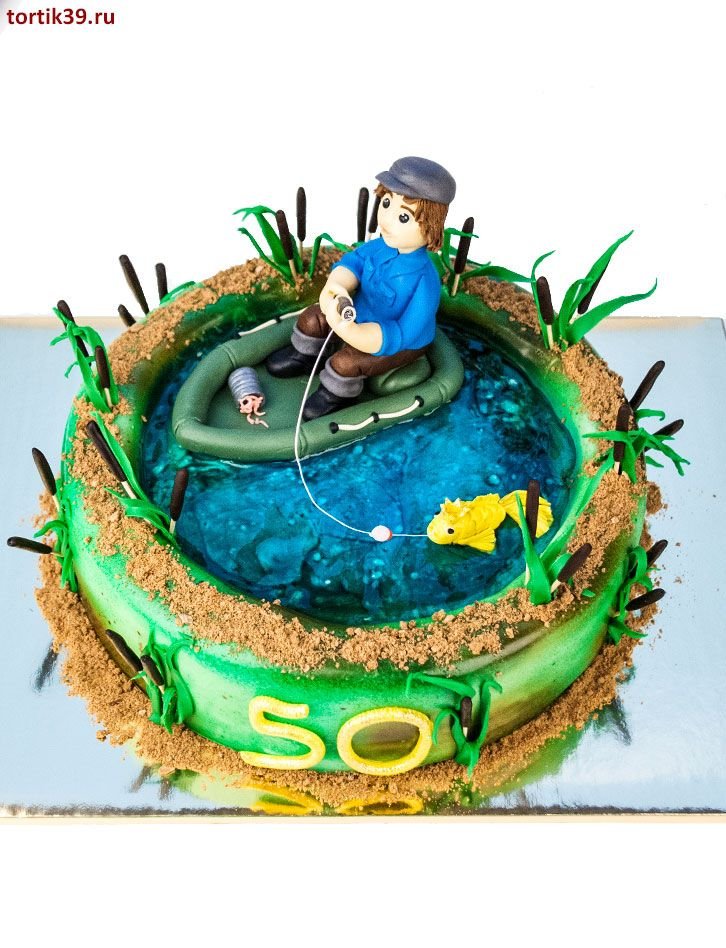 Торт для рыбака фото из мастики своими руками 66