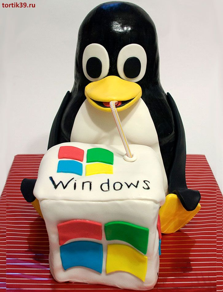 Торт «Linux vs Windows»
