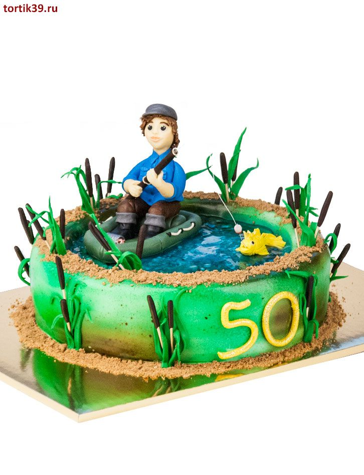 тому картинка торт для рыбака связано